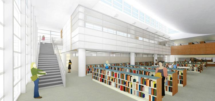 Growth plans: The Hockaday School will kick off its renovation by adding a partial third floor above the upper-school library in the Liza Lee Academic Research Center.