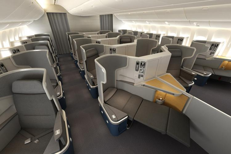 CATERING TO BUSINESS: Premium travelers account for a large share of American Airlines' income, so it offers amenities like fold-out seats and entertainment options. The carrier is also renewing its fleet.