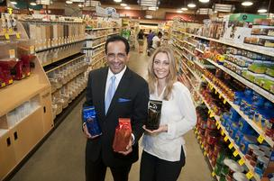Coffee connoisseurs: Husband-and-wife team Roberto and Julie Conti, at Market Street in Coppell, currently offer their gourmet coffee through 100 grocery stores, including Market Street, Tom Thumb and Randalls.
