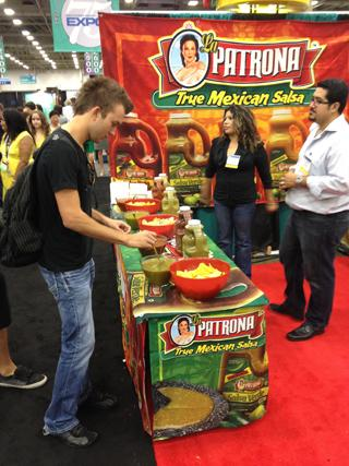 DINING IN: La Patrona Salsa was among those with a booth at the Dallas expo.
