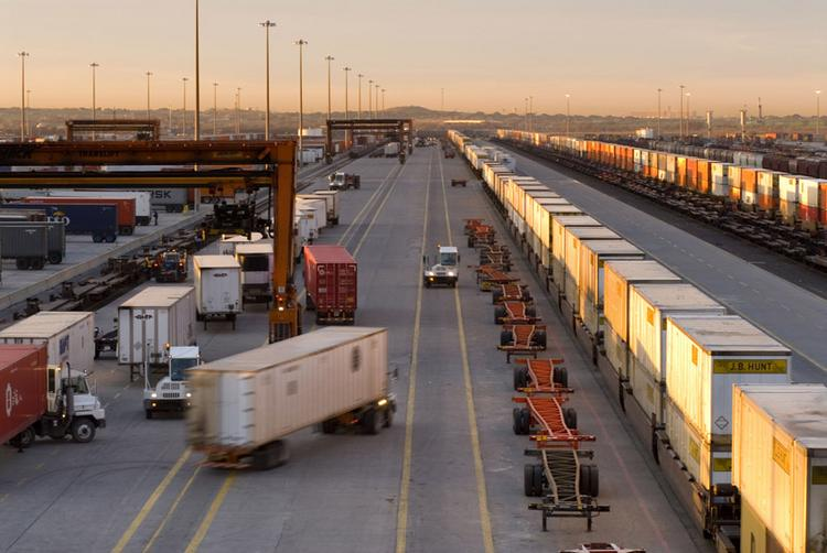 ON THE MOVE: Asian freight is said to account for about 80 percent of the activity at BNSF's Alliance Intermodal Facility. Some area execs hope the expanded Panama Canal leads to more freight here.