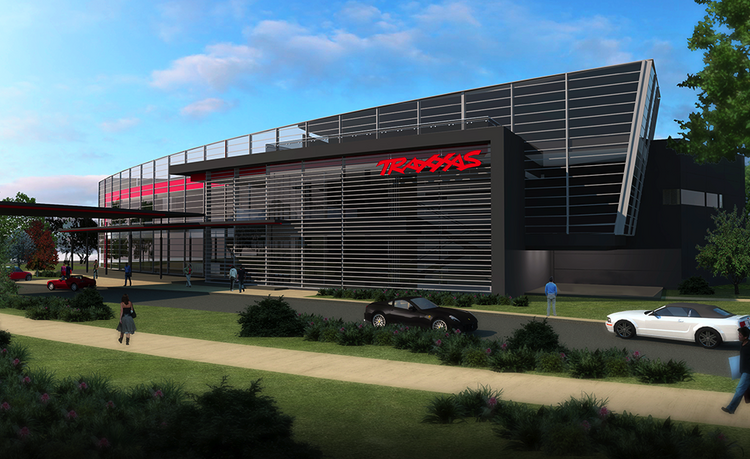 Under control: The project inclues a 100,000-square-foot, three-story corporate office, a 75,000-square-foot auditorium and car museum and a 90,000-square-foot distribution center at Craig Ranch in McKinney.
