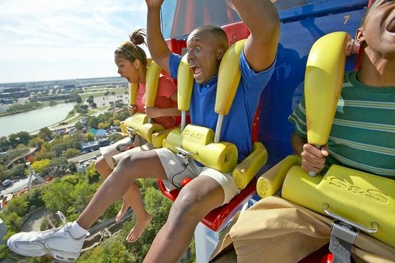 Six Flags saw its second quarter profit nearly double.