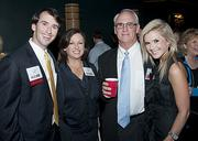 Honoree Robbie Baty, of Cushman and Wakefield, with Keri and Gaines Baty and his wife, Skyler.