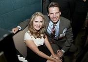 Honorees Rebecca Hicks, of Hicks Law Group, and Chris Trowbridge, of Bell Nunnally & Marlin backstage at the Granada