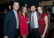 Toby Hughes, Lisa Cope, Scott Pratt and Adrienne Healy at the 40 Under Forty celebration at the Granada Theater.