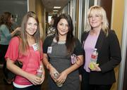 Christina Krenek, Elizabeth Edwards and Belinda Deane enjoy themselves while networking at The Foundry.