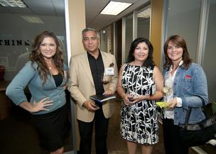 Amy Hill, Raymond Rodriguez, Thelma Conrado and Deborah Carroll enjoy themselves at the DBJ After Hours event.
