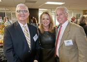 Richard Burbank, Pam Brock and Kurt Vandermotter at the DBJ's After Hours event.