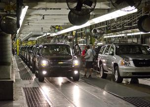 One after another, 1,140 GMC, Chevrolet and Cadillac SUVs roll off the line daily at the GM plant in Arlington.