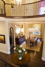 """It's about creating a casual elegance with a sense of connectivity,"" said Chris Matzke, a division president for Standard Pacific Homes in DFW, about the details in the luxe homes of Shady Oaks."