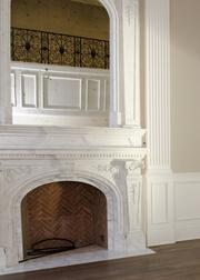 10245 Strait Lane features antique mirrors throughout the 14,429-square-foot home.
