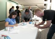 Employees filled care packages and wrote a letter of encouragement  for homeless children living in shelters.