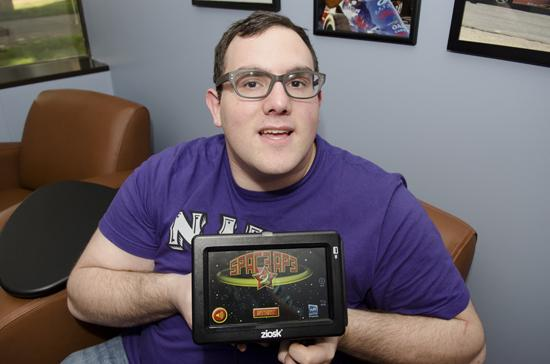 nonPareil Institute's Aaron Winston with Spaceape, a game now available for download.
