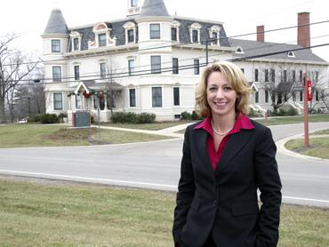 Otterbein Senior Lifestyle Choices in Lebanon will launch Otterbein Hospice in the fall of 2013. Jill Hreben, president and CEO of Otterbein Retirement Living  Communities, stands in front of Otterbein-Lebanon, the company's largest  retirement community.