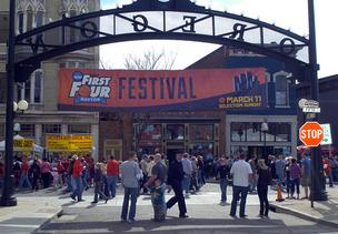 Thousands of people turned out Sunday for the NCAA First Four Festival in Dayton's historic Oregon District near downtown.