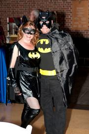 Batman and Batgirl were among the partygoers.