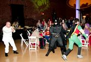 Batman and Robin get into the act.