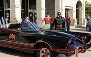 The Batmobile makes an appearance.