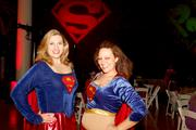 Supergirls flew in for the Superhero Costume Ball.