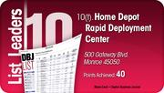 Home Depot Rapid Deployment Center is tied for the No. 10 Dayton-area LEED certified project.