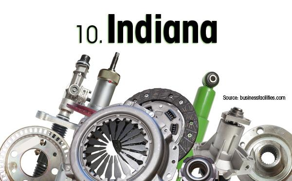 Indiana is the No. 10 strongest auto state.