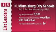 Miamisburg City Schools is the No. 10 Dayton-area public school district.