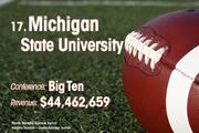 Michigan State University is the No. 17 richest college football team of 2011.