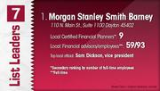 Morgan Stanley Smith Barney is the No. 1 Dayton-area financial planning firm.