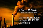 Gen J M Gavin is the No. 1 worst facility for toxic air pollution in Ohio.