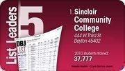 Sinclair Community College is the No. 1 Dayton-area computer training program.