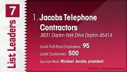 Jacobs Telephone Contractors is the No. 1 Dayton-area telecommunications company.