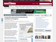 1. Group lists top stock investments by members of Congress