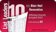 Blair Hall Renovation is tied for the No. 2 Dayton-area LEED certified project.