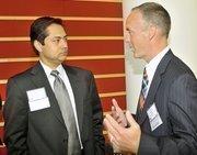 Vishal Soin, president of Soin International, and Jeff Hoagland.