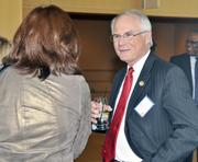 David Hopkins, president of Wright State University, at the annual DBJ event.