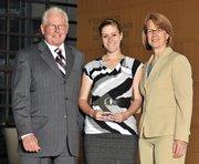 40 Under 40 winner Victoria Serruto with Applied Research Associates.