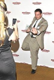 Jonathan Gauder poses after the banquet.