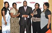 Groups posed for photos at the DBJ 40 Under 40 awards.