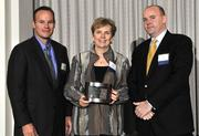 Linda Cleveland with Industry Products, along with Justin Stallard with Battelle & Battelle, and Jason Evans.