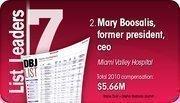Mary Boosalis is the No. 2 Dayton-area hospital executive compensation.