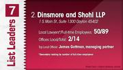 Dinsmore and Shohl LLP is the No. 2 Dayton-area law firm.