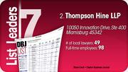 Thompson Hine LLP is the No. 2 Dayton-area law firm.