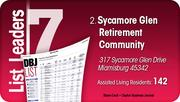 Sycamore Glen Retirement Community is the No. 2 Dayton-area assisted living community.