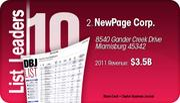 NewPage Corp. is the No. 2 Dayton-area company.