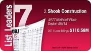 Shook Construction is the No. 2 Dayton-area commercial construction company.