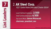 AK Steel Corp. is the No. 2 Dayton-area manufacturing company.