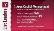Apex Capital Management is the No. 2 Dayton-area money management firm.