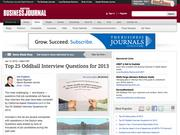 2. Top 25 Oddball Interview Questions for 2013