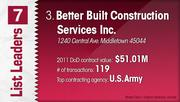 Better Built Construction Services Inc. is the No. 3 Dayton-area U.S. Department of Defense contractor.